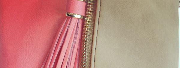 odette et lulu, faq. questions, accessoires, bijoux, rose, beige, cuir, or, fermeture, eclair, zip, zipette